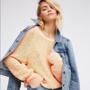 FreePeople Electric City Sweater NWT Orange Small